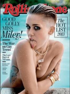 Miley Cyrus sexy nue en couverture du magazine Rolling Stone