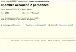 annonce Leboncoin.fr, Les fautes d'orthographe (5) Cliquez sur la photo pour agrandir