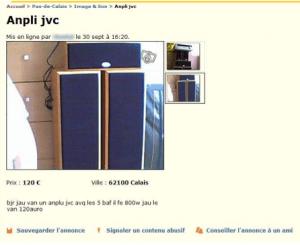 annonce Leboncoin.fr, Les fautes d'orthographe (8) Cliquez sur la photo pour agrandir