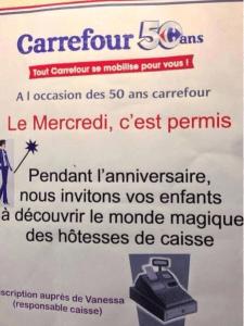Pour ses 50 ans Carrefour organise un dating caissières-bambins