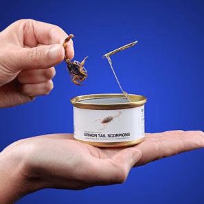 Tapas d'insectes sur Think Geek