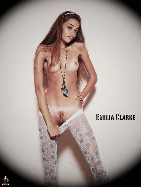 Emilia Clarke, la Khaleesi de Game of Thrones enlève le bas pour ...