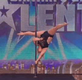 Cette femme ronde fait de la pole dance comme une pro sur Britain's Got Talent