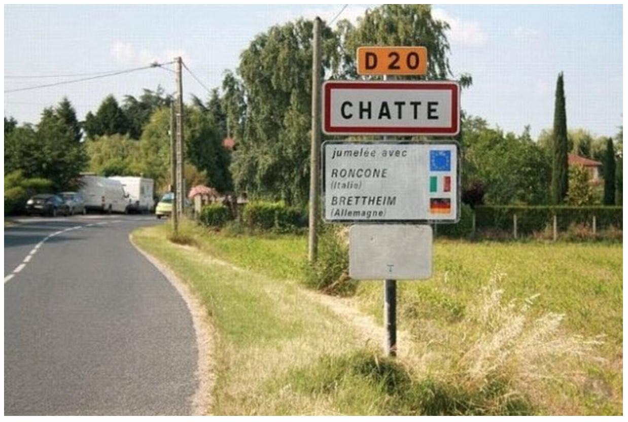 panneau_ville_chatte_isere