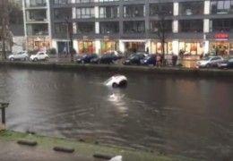 sauvetage_femme_bebe_voiture_noyade_amsterdam